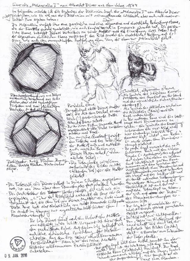 Zur Melancholia I von Dürer
